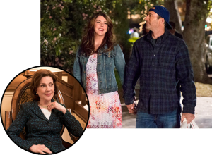 Graham e Scott Patterson (no set); Kelly Bishop